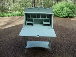 vintage secretary great for guest register!