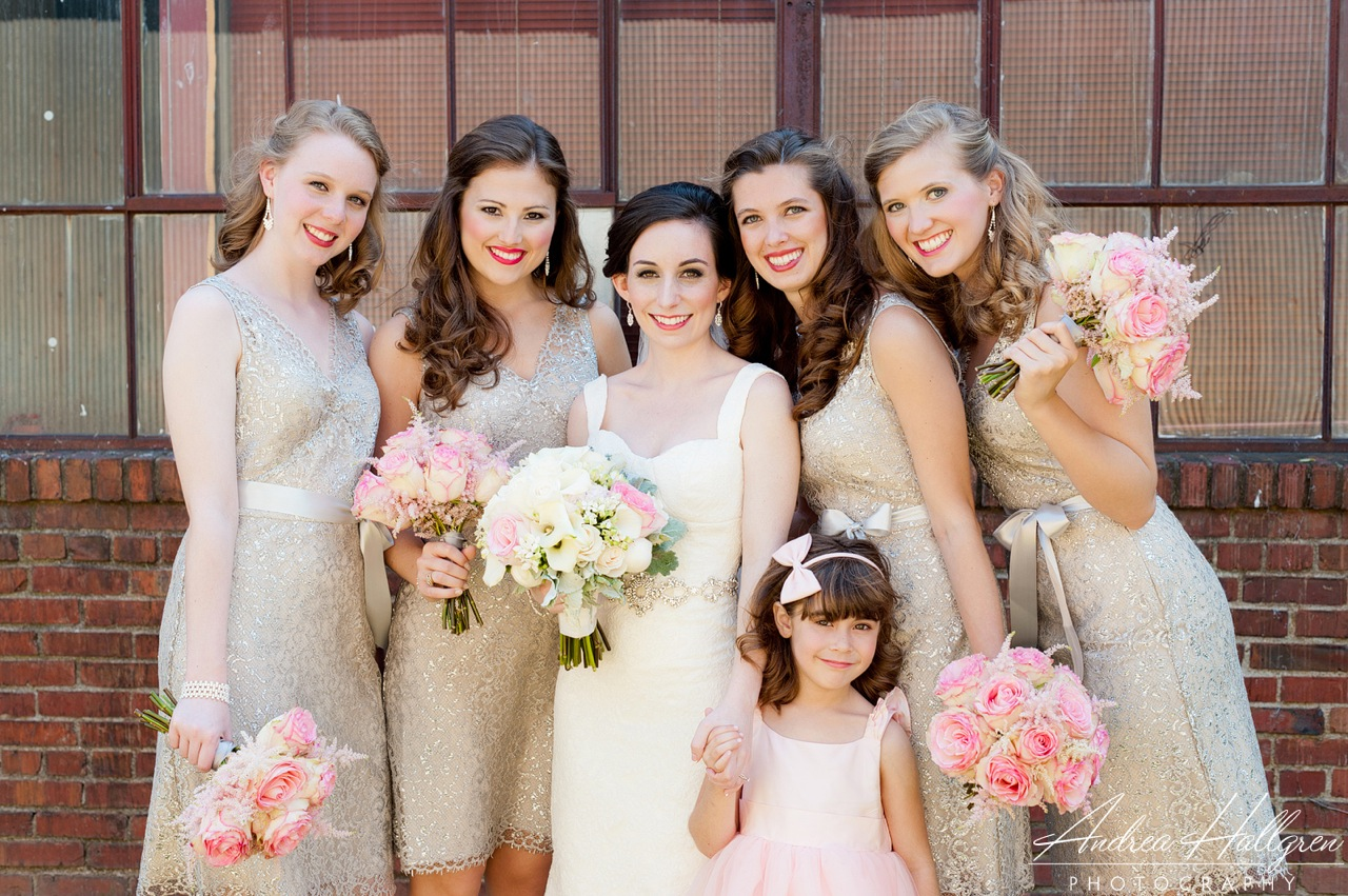 Brides Bridesmaids Amp Blooms Grey And Pink A Very Romantic Combo