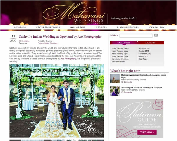 Branching Out on Maharani Weddings