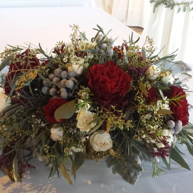 Winter wedding centerpieces rich colors Last weekend wedding  thehellip