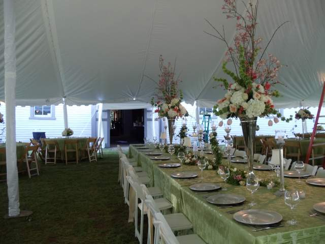 Tall Centerpieces for Feasting table at Belle Meade Plantation Wedding